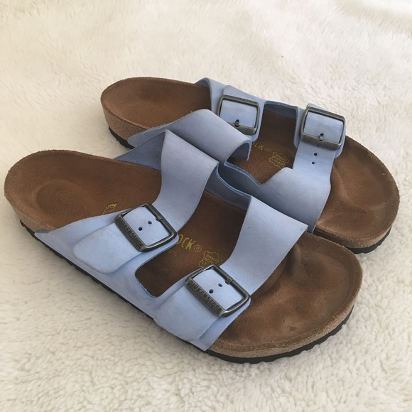 01869ffadfc7 Birkenstock Shoes - Birkenstock Arizona Light Blue Sandals Size L9 M7